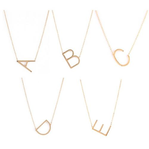 Alphabet Letter Necklace
